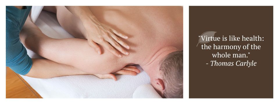 "shoulder massage | ""Virtue is like health: the harmony of the whole man."" - Thomas Carlyle"