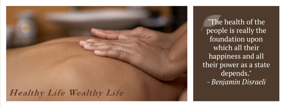 "hands on back | Healthy Life Wealthy Life | ""The health of the people is really the foundation upon which all their happiness and all their power as a state depends."" - Benjamin Disraeli"