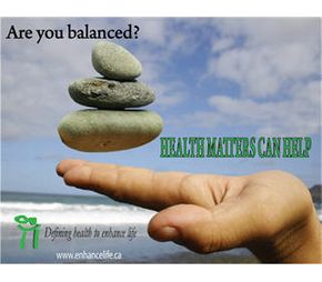 Are you balanced? Health Matters Can Help | holding rocks